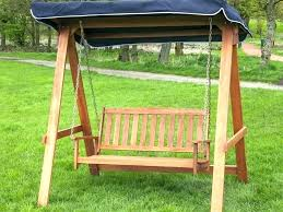 outdoor swing chair canopy replacement wood with wooden porch patio swings comfortable chai