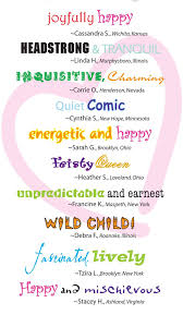 can you describe your child s personality using only 2 words personality
