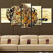 5 plane abstract leopards modern home decor wall art canvas animal picture print painting set of 5 each canvas arts unframed free worldwide