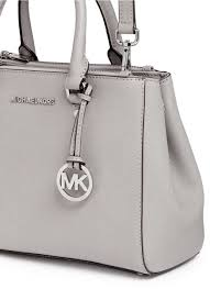 where can i lyst michael kors sutton small saffiano leather satchel in gray 51e3a 01496