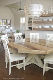 DIY Octagon Dining Room Tablewith A Farmhouse Base Seats - Diy rustic dining room table