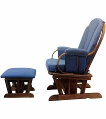 rocking chair with ottoman shermag glider rocker and ottoman corduroy blue concept