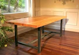 dining table with white legs metal dining table white legs timber top