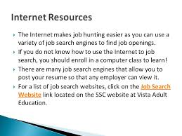 how to do job search job search workshop ppt download