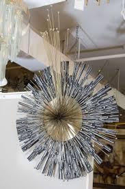 curtis jere inspired mixed metal sunburst wall sculpture