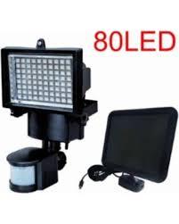 SolarPowered 80 LED Outdoor Security Floodlight Black 80 Led Solar Security Light