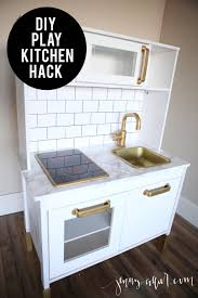 Pottery Barn Retro Kitchen Diy Ikea Play Kitchen Hack Grey Cabinets Kitchen Hacks And Cabinets