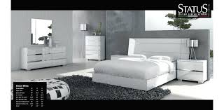 Modern Bedroom Sets Queen White Lacquer Contemporary Home ...