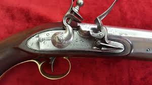 X X X SOLD X X X Privately manufactured Flintlock Officer s Pistol.