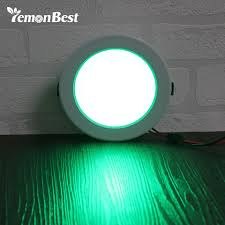 Rgb Led Panel Light Us 9 26 30 Off Lemonbest 5w 10w Round Rgb Led Panel Light Concealed Recessed Ceiling Lamp Downlight Ac 85 265v For Home Office Decoration In Led