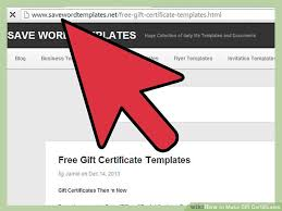 How To Make A Gift Certificate 3 Ways To Make Gift Certificates Wikihow