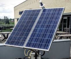 dual axis solar tracker with energy monitor