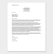 Cover Letter For Librarian Impressive Cover Letter Template 48 Formats Samples Examples