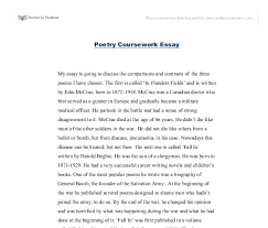 poetry comparison flanders field fall in and anthem for doomed  document image preview