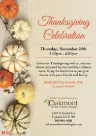 Thanksgiving Invites Thanksgiving Invites Oakmont Senior Living