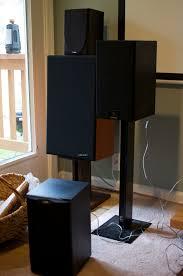 vintage klipsch bookshelf speakers. all the bookshelf speakers together. clockwise starting from stand: celestion sl6 si, vintage klipsch