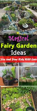 18 Magical Fairy Garden Ideas--The kids will love them, and you too