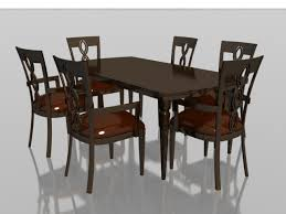 amazing 6 seater wood dining set 3d model 3dsmax files free free dining room chairs decor