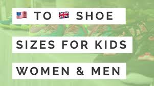 Uk Shoe Size Chart Child Us To Uk Shoe Size Conversion Chart Kids Womens Mens
