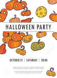 Pumpkin Invitations Template Halloween Vector Invitation Template With Pumpkin You Can Use