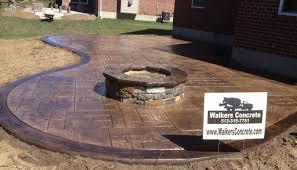 stamped concrete patio and fire pit cincinnati ohio