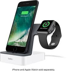 Plus, because it holds an apple watch in landscape orientation these charging bases are designed for people who own multiple apple devices—namely, an iphone, an apple watch, and airpods—and want to. Best Buy Belkin Powerhouse Charging Dock For Iphone And Apple Watch White F8j200ttwht