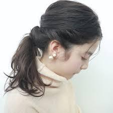 ポニーテールは前髪で100倍可愛く一つ結びの前髪ありなし長め伸ばし