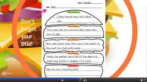 hamburger paragraph writing in second grade