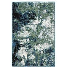 journey blue green 2 ft x 3 ft ter rug