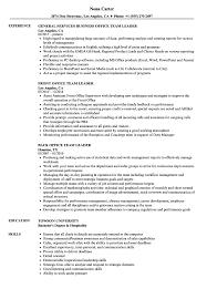 Team Leader Resume Examples Office Team Leader Resume Samples Velvet Jobs