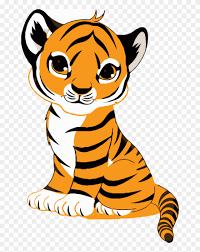 tiger face clip art royalty free tiger ilration cute cartoon tiger cub png