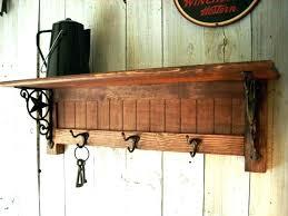 Wall Mounted Coat Rack With Hooks And Shelf Best Wall Coat Rack With Hooks Wall Rack Hooks Reclaimed Wood Coat Hook