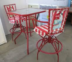 lot 2585 coca cola patio set glass top table w 2 chairs
