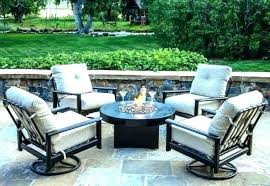 fire pit table with chairs gas fire pit table set set patio table gas fire pit
