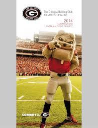 Georgia Bulldogs 2014 Pamphlet