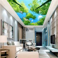 Ceiling Panel Design Us 90 0 Nature Designs Digital Printed And Uv Printing False And Suspended Ceiling Pop Ceiling Pvc Stretch Ceiling Panel Design In Wallpapers From