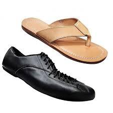 bundle of men s formal faux leather shoeen s sandals black
