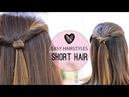 Cute Easy Hairstyles 64 Amazing EASY HAIRSTYLES FOR SHORT HAIR YouTube
