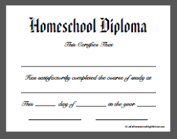 Free Homeschool Diploma Template Download Homeschool High School Diploma Templates