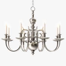 1stdibs 18th century style two tier chandelier 3d model max obj fbx mtl 1
