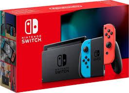 Купить Nintendo <b>Switch</b> (неоновый красный/неоновый синий ...