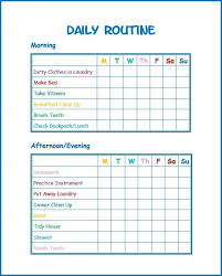 True Daily Routine Charts For Adults Daily Routine Charts