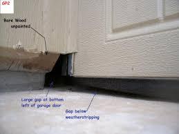 garage door side sealExterior Sealing Issues  JWK Inspections
