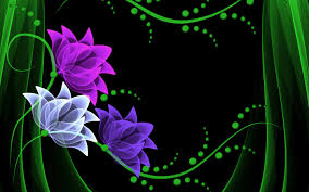 Neon Flowers Wallppaer wallpaper