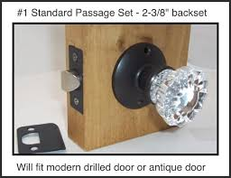 very affordable fluted crystal glass door knob sets for modern doors or replacement set for older