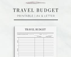 vacation budget planner travel planner kit travel journal a4 letter size vacation