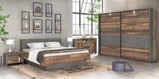 Schlafzimmer Clif Binou 270 6 Tlg Komplettset Optik Old Wood Vintage