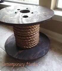 rope spool table