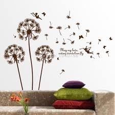 aliexpresscom  buy removable pvc dandelion wall stickers living