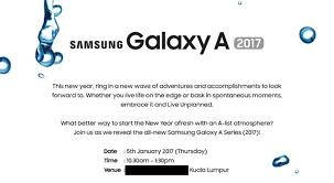 Galaxy A 2017 Launch Event Invites Go Out Again Tease Water